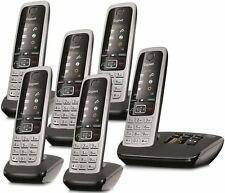 Gigaset C430A Cordless Home Phone with Answer Machine Loudspeaker 6 Handsets