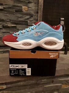 Reebok Question Low Iverson Phillies Blue Maroon Size 12 DEADSTOCK