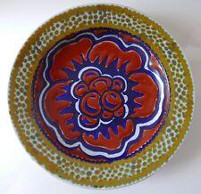 Assiette décorative murale ancienne—Gouda, Hollande—Décor floral—Début XXe