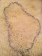 Enhanced Blue Chalcedony Endless Bead Strand 36""