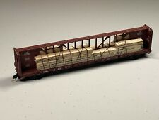 New!!! Red Caboose N Scale Center Beam Car with Wood Load e.g. KATO quality