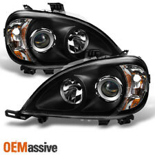 Fit Black 1998-2001 Mercedes Benz W163 ML320 ML430 Projector Headlights Lamps