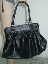 Borsa donna nera con borchie KDR@KDR OMA07