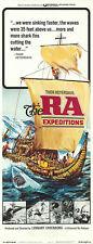 THE RA EXPEDITIONS original 1974 14x36 movie poster THOR  HEYERDAHL