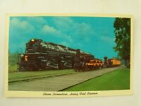 Vintage 1960's Steam Locomotives at Henry Ford Museum Postcard