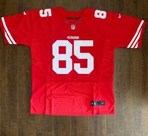 Vernon Davis San Francisco 49ers Mens On Field Jersey Size 50 Free Ship (RS)
