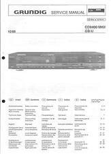 Grundig ORIGINALE Service Manual per CD 8400 MKII GB/U