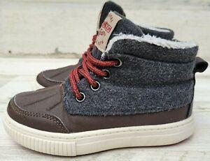 Oshkosh Bgosh Kids 9 Duck Boots Raffert-01 Faux Suede Grey Brown Toddler Shoes