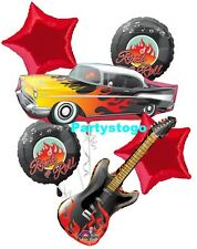 ROCK AND ROLL BIRTHDAY PARTY BALLOONS BOUQUET DECORATIONS ROCK STAR GUITAR