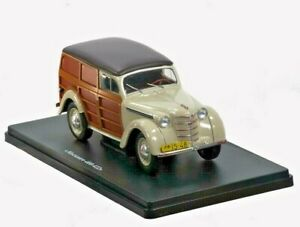DIECAST MODEL CAR Moskvich-400-422 1948 Hachette Legendary cars of USSR 1/24