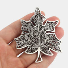 2 Tibetan Silver Large Maple Leaf Charms Pendants for Jewellery Making Findings