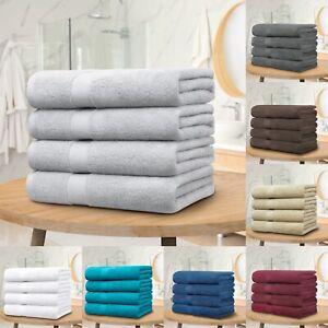 4x Bath Towels 100% Pure Combed Cotton Big Towels Soft Luxury Bathroom Towels AU
