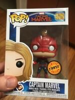 Rare Captain Marvel Masked Chase Funko Pop Vinyl New in Mint Box + P/P