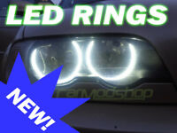 For BMW 3 Series E36 Projector LED Angel Eye Kit 90-98 Halo Rings Lighting Part