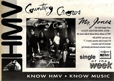 "NEWSPAPER CLIPPING/ADVERT 23/4/94PGN43 7X11"" COUNTING CROWS : MR JONES"
