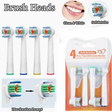 4Pcs soft Electric Toothbrush Heads brush Replacement fit for Oral B clean&white