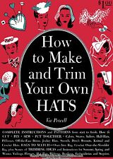 Vintage Hat Book How to Make Trim Hats DIY 40s Millinery Patterns WWII Swing Era