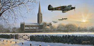 Hawker Hurricane Fighter RAF 'Dawn Chorus' Aircraft Aviation Christmas Card