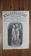 1872 Illustrazione: I Fratelli Buttee Gruppo in Marmo di Giuseppe Zappalà