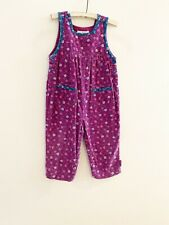 Vintage 90s Gymboree Floral Corduroy Overalls Rompers Girls Size XS 1-2 Years