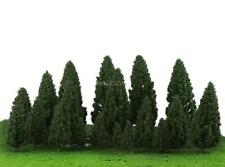 20x Dark Green Trees Modellbahn Wargame Diorama Garten-Landschaft Layout-HO