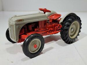 """Vintage ERTL  Ford 8N Tractor 1:16  Scale Orange / Grey 7"""" Long"""