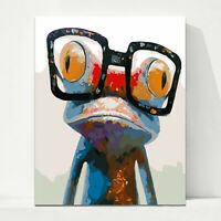 Cute Frog Paint By Numbers Kit DIY Oil Painting Frameless Home Arts DIY Decor