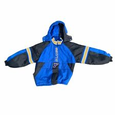 Vintage Child's Boys Starter St. Louis Blues Puffer Jacket Full 1/4 Zip Medium