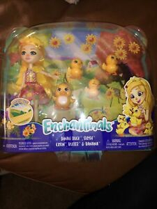 "Dinah Duck Harvest Hills 6"" Doll Enchantimals 2020 Mattel Pets Slosh NRFSB"