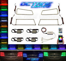 03-06 Chevy Silverado Multi-Color LED RGB Headlight Halo Ring BLUETOOTH Set