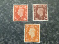 GB POSTAGE REVENUE STAMPS SG463A,464A,465A UN MOUNTED MINT
