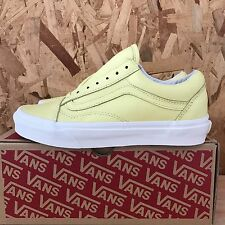 VANS OLD SKOOL PASTEL PACK YELLOW CREAM BLANC DE BLANC SIZE 5 NEW IN BOX
