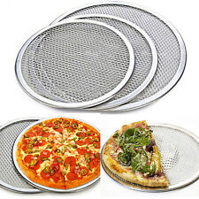 Non Branded Aluminium Pizza Pan Baking Round Oven Tray Plate Kitchen Utensils