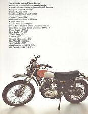 1974 NOS TRIUMPH MOTORCYCLE FOLDER TR5T TROPHY TRAIL TR5MX 500 ORIGINAL BROCHURE