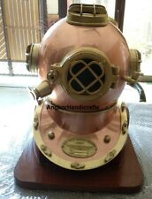 Nautical Home Decorative Look Antique Collectible Diving Helmet on Base