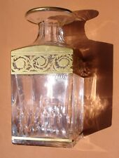 ANCIENNE CARAFE GRAND FLACON EN CRISTAL ET OR DE SAINT LOUIS SERVICE THISTLE -TB