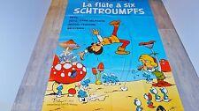les schtroumpfs LA FLUTE A SIX SCHTROUMPFS ! affiche peyo animation bd