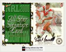 2000 Select NRL All Stars Signature Card SC3: TRENT BARRETT- Dragons
