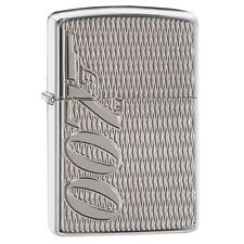 "Zippo ""007-James Bond"" High Polish Chrome Lighter, Armor, Deep Carved, 29550"