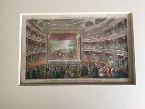 1812 Caricature Dr Syntax At Covent Garden Theatre - Rowlandson, pub. Ackermann