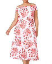 Calvin Klein Womens Dresses White Size 18W Plus A-Line Off Shoulder $144 249