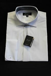 MEN'S DOUBLE CUFF WHITE VICTORIAN WING COLLAR SHIRTS