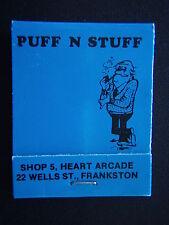 PUFF N STUFF SHOP 5 HEART ARCADE 22 WELLS FRANKSTON 7833461 BLUE MATCHBOOK