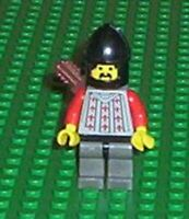 LEGO - MINIFIGURE - CASTLE - Fright Knights - Knight 2, Black Chin-Guard, CAS244