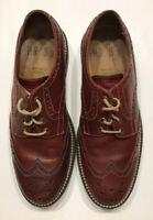 Aldo Mr. B's Mens Leather Brogue Shoes Size 43D US 10 Brick Wing Tip Adamis