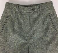 Austin Reed Petite Women's Classic Trouser Pant Gray Metallic Wool Blend Size 6