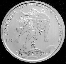 1/2 OZ SILVER 2015 RCM CALGARY STAMPEDE COIN - .9999 FINE BU!