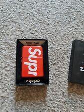 Supreme Zippo Logo Lighter Red New
