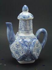 Vintage, Porcelain Blue & White Teapot, Asian Oriental, Squared Shape, A5