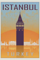 See Istanbul Largest City Turkey Travel Tourism Vintage Poster Repro FREE S//H
